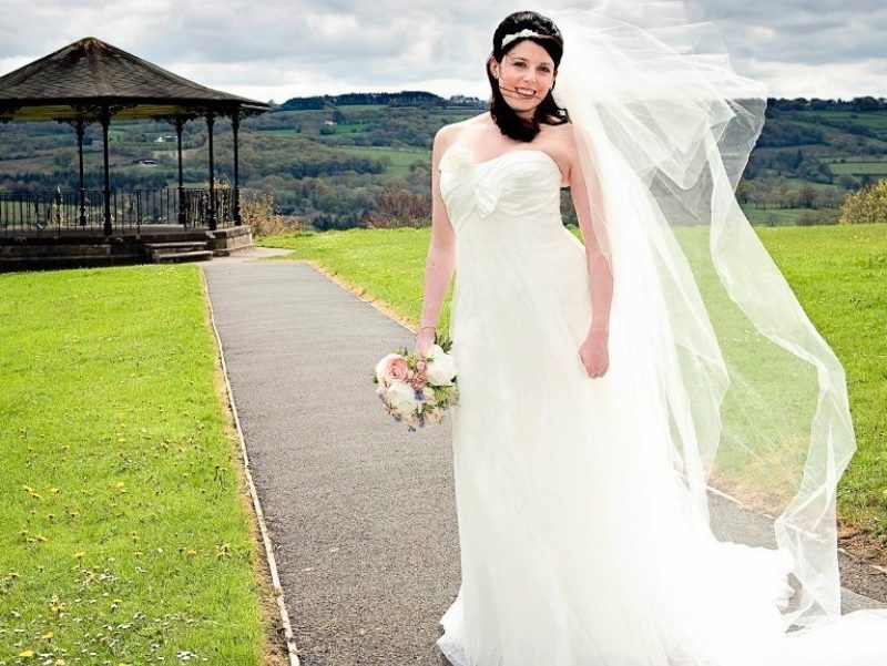 "Two tier 126"" Veil"