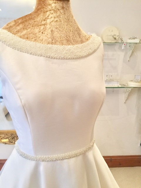 Louise Bentley Pearl neckline