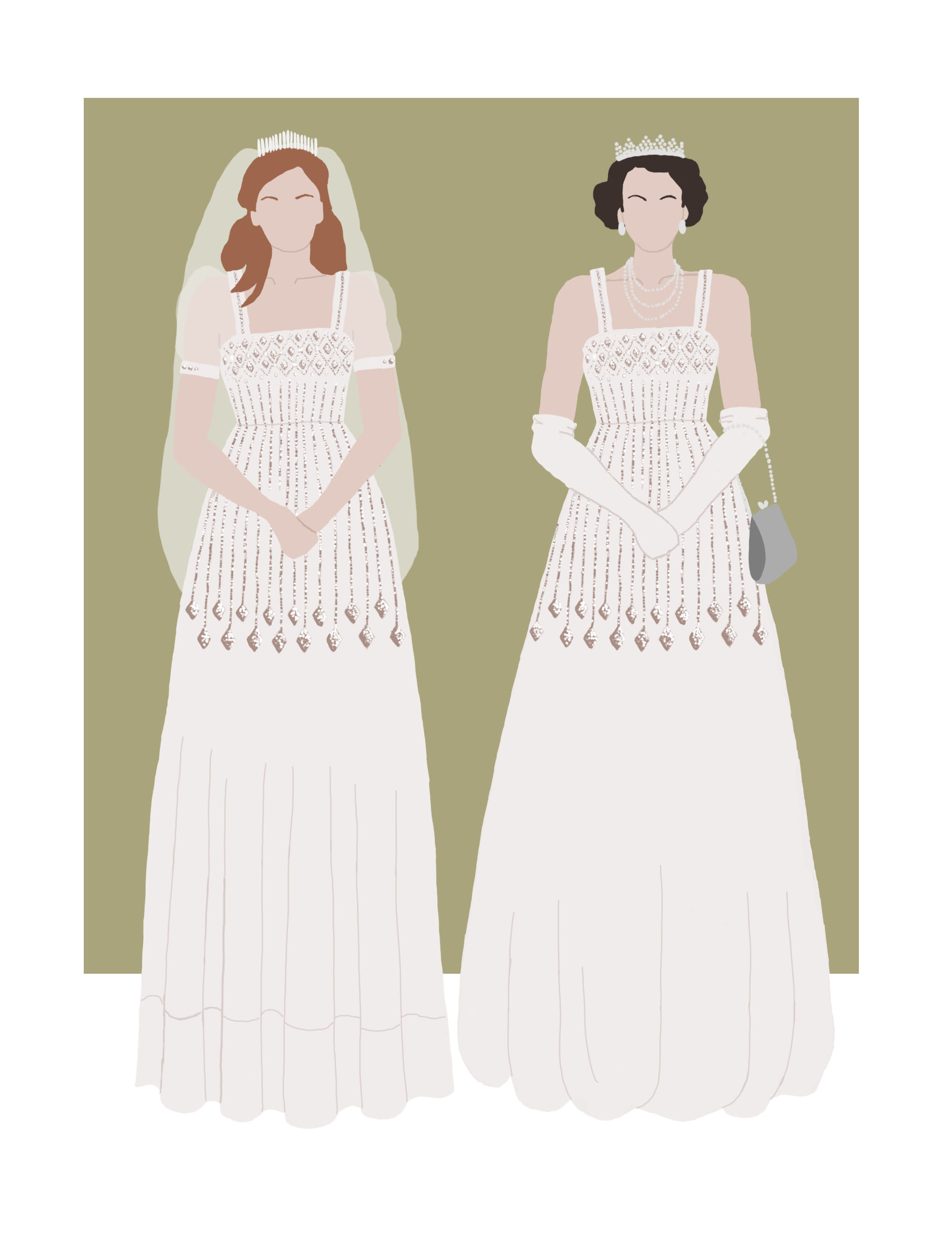 Wedding Dress Inspiration Princess Beatrice And Queen Elizabeth